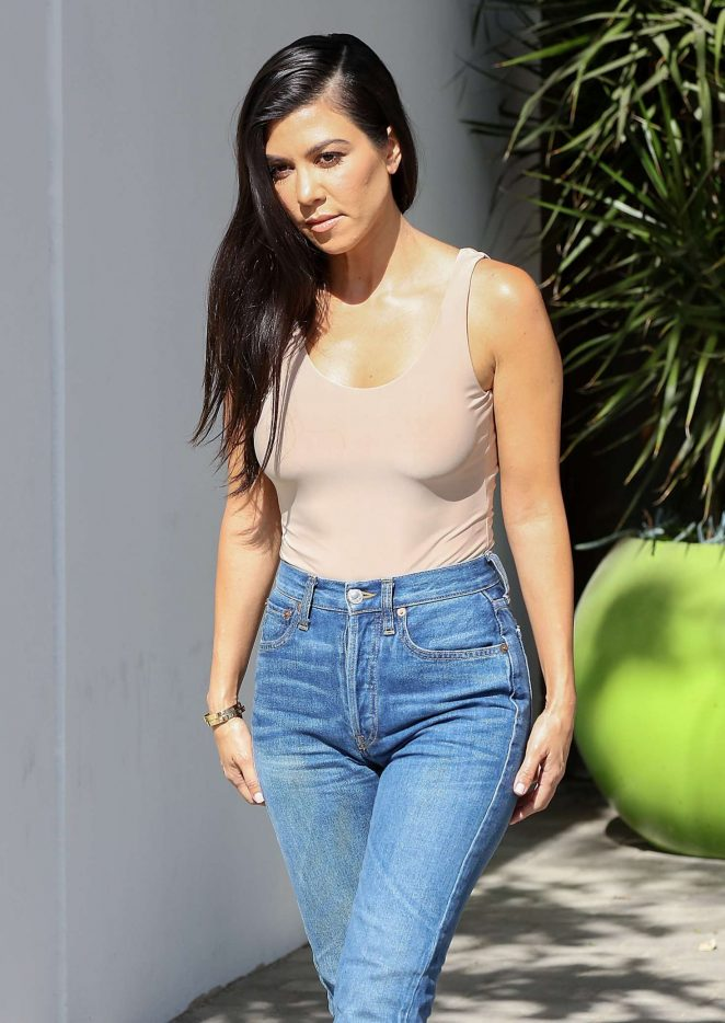Kourtney Kardashian after some family business in Westlake -21