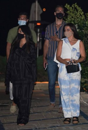 Kourtney Kardashian and Addison Rae - out for dinner in Malibu