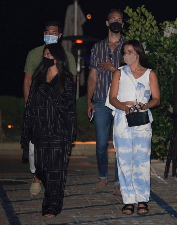 Kourtney Kardashian and Addison Rae - out for dinner in Malibu