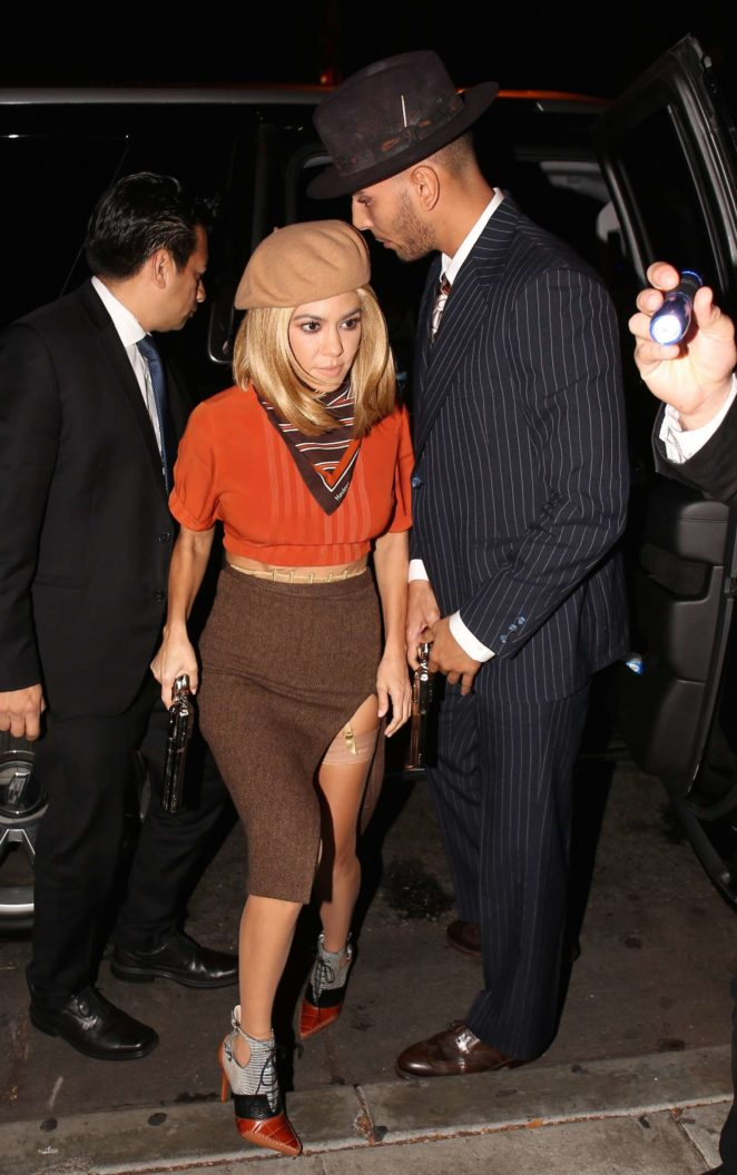 Kourtney Kardashian and boyfriend Younes Bendjima at Halloween bash -04