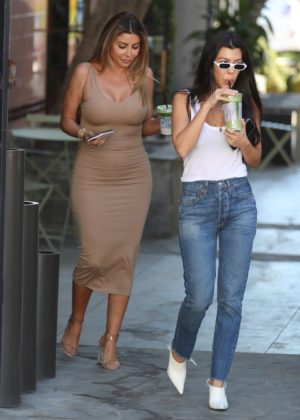 Kourtney Kardashian and Larsa Pippen out in West Hollywood
