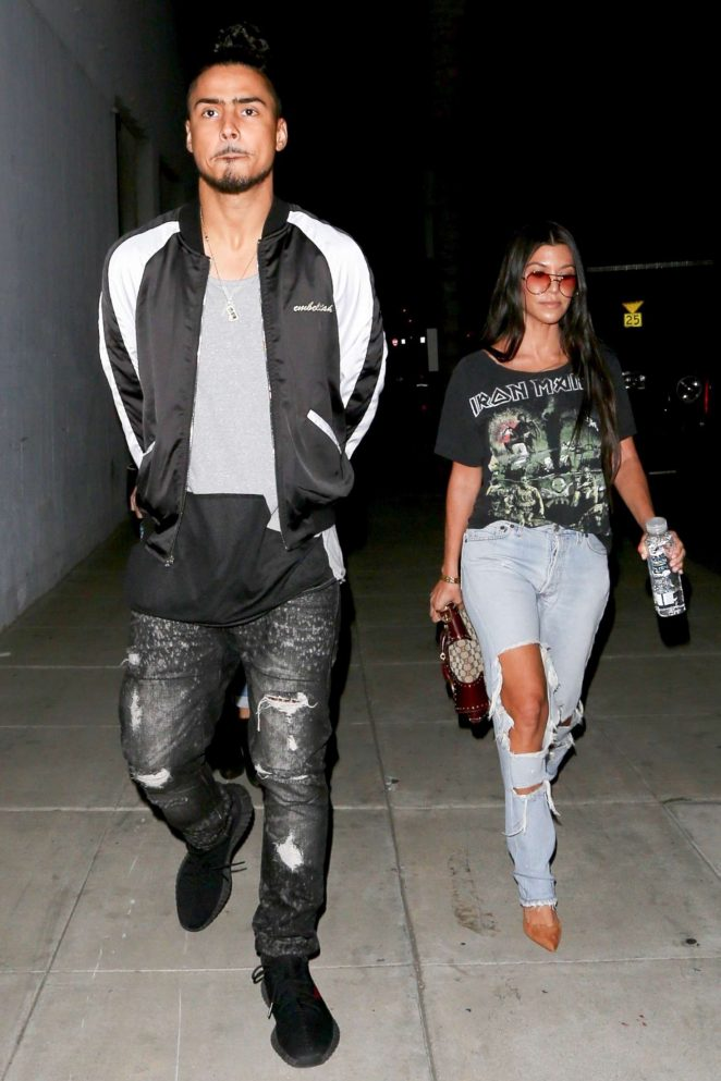 Kourtney Kardashian and Quincy Brown Leaves at Craig's in Los Angeles