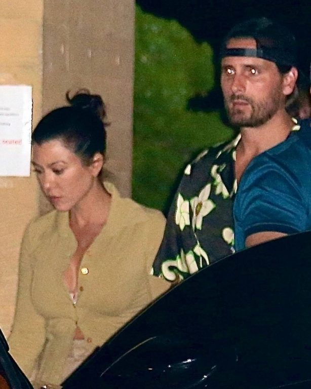 Kourtney Kardashian and Scott Disick - Seen together at Nobu in Malibu