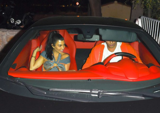 Kourtney Kardashian and Younes Bendjima Leaving Gotha nightclub in Cannes