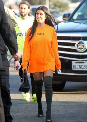 Kourtney Kardashian - Arrives at Kanye West Concert in Los Angeles