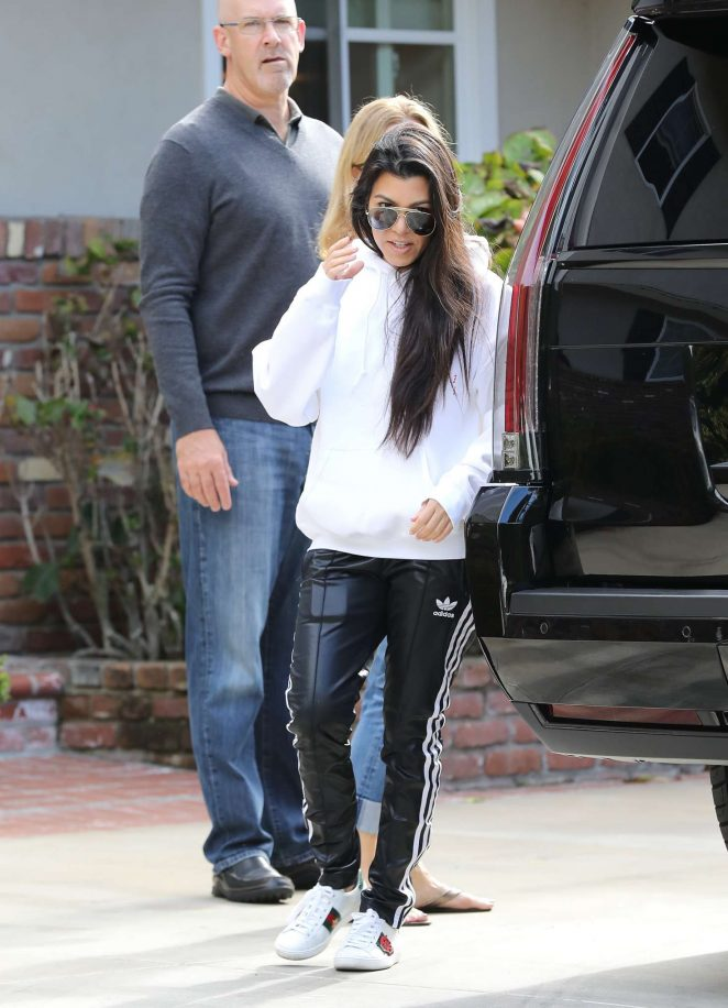 Kourtney Kardashian: Arrives to a casual family party in Irvine -09