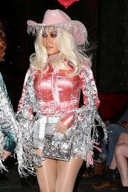 Kourtney Kardashian - Arriving at Kendall's Halloween Party in LA