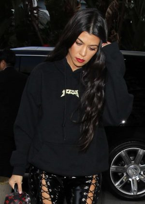 Kourtney Kardashian - Arriving at The Staples Center in LA
