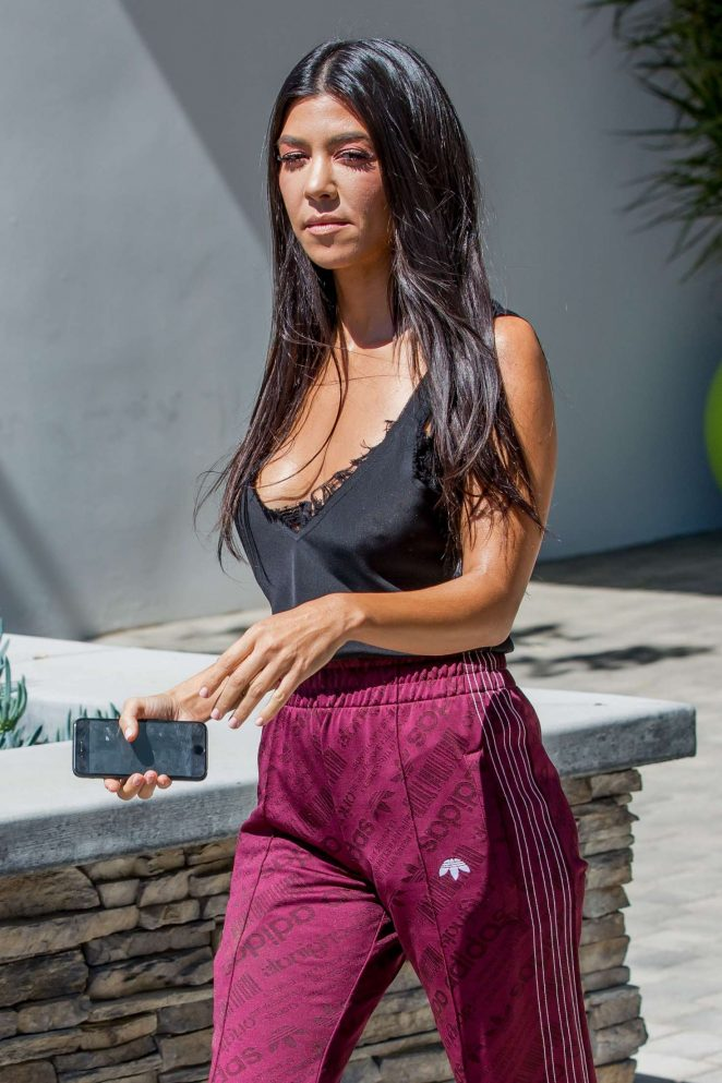 Kourtney Kardashian at a studio in Calabasas