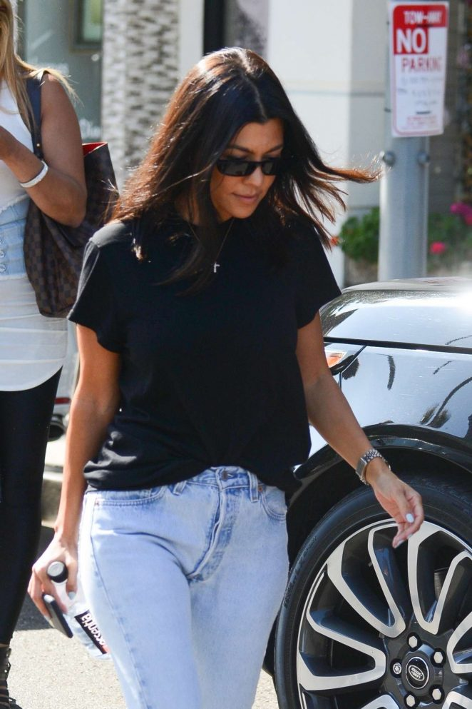 Kourtney Kardashian at Alfred's in West Hollywood