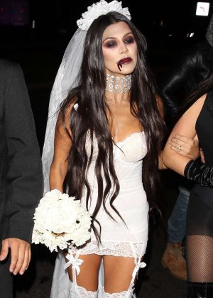 Kourtney Kardashian at Bootsy Bellows Halloween Party in West Hollywod