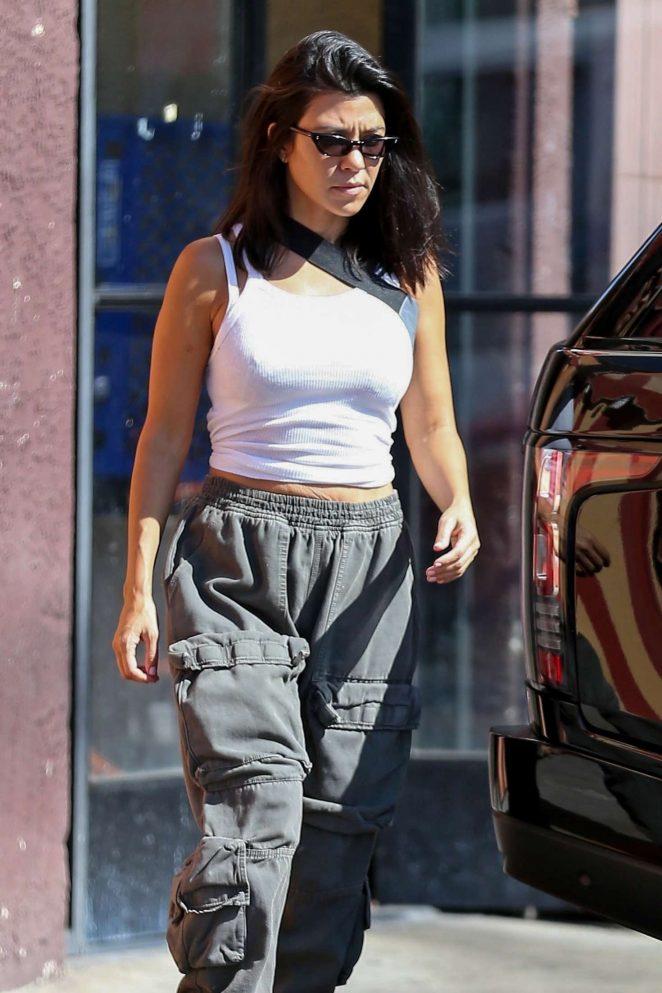 Kourtney Kardashian at Carousel restaurant in Los Angeles