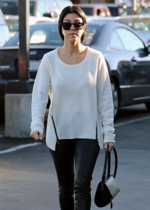 Kourtney Kardashian at Christmas Shopping in Woodland Hills