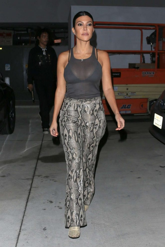 Kourtney Kardashian at Gagosian Gallery in Los Angeles