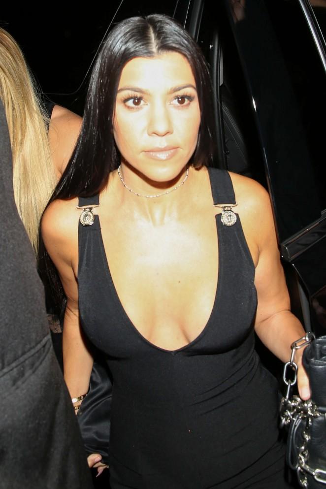 Kourtney Kardashian at Gigi's 21st Birthday Party in West Hollywood