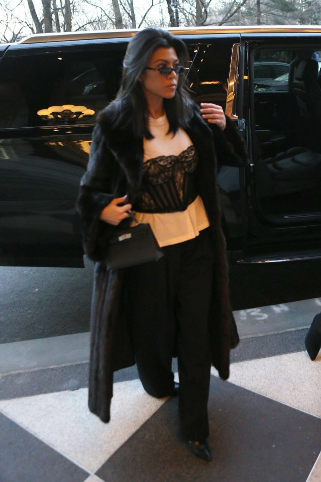 Kourtney Kardashian - At her Manhattan hotel in NY