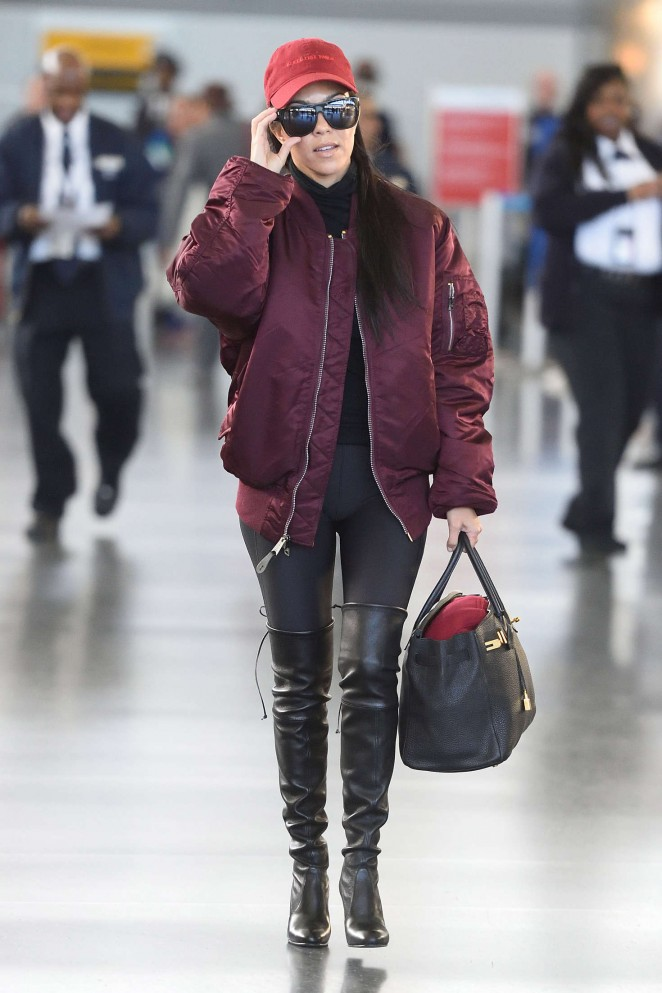 Kourtney Kardashian at LAX Airport in Los Angeles