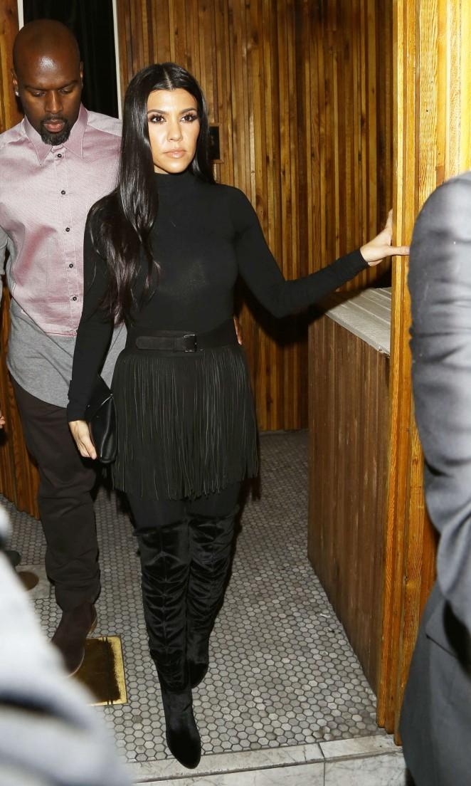 Kourtney Kardashian at Nice Guy club in LA