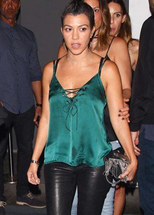 Kourtney Kardashian at The Doheny Room in West Hollywood