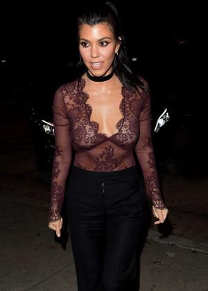 Kourtney Kardashian at The Nice Guy in Los Angeles