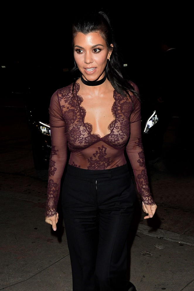 Kourtney Kardashian at The Nice Guy in Los Angeles