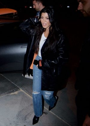 Kourtney Kardashian - Attends church service in Beverly Hills