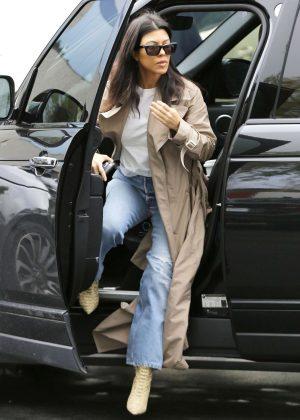 Kourtney Kardashian - Attends church services in Calabasas