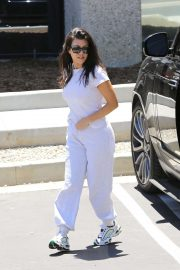 Kourtney Kardashian - Attends Kanye West's Church Service in Los Angeles