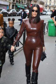 Kourtney Kardashian - Attends the Balenciaga Fashion Show in Paris