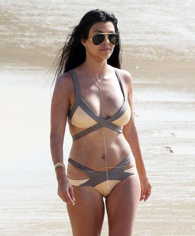 Kourtney Kardashian in Bikini in St. Barts