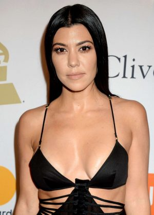Kourtney Kardashian - Clive Davis Pre-Grammy Party 2017 in Los Angeles