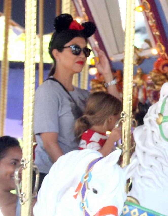 Kourtney Kardashian – Disneyland for North West's 2nd Birthday in Anaheim