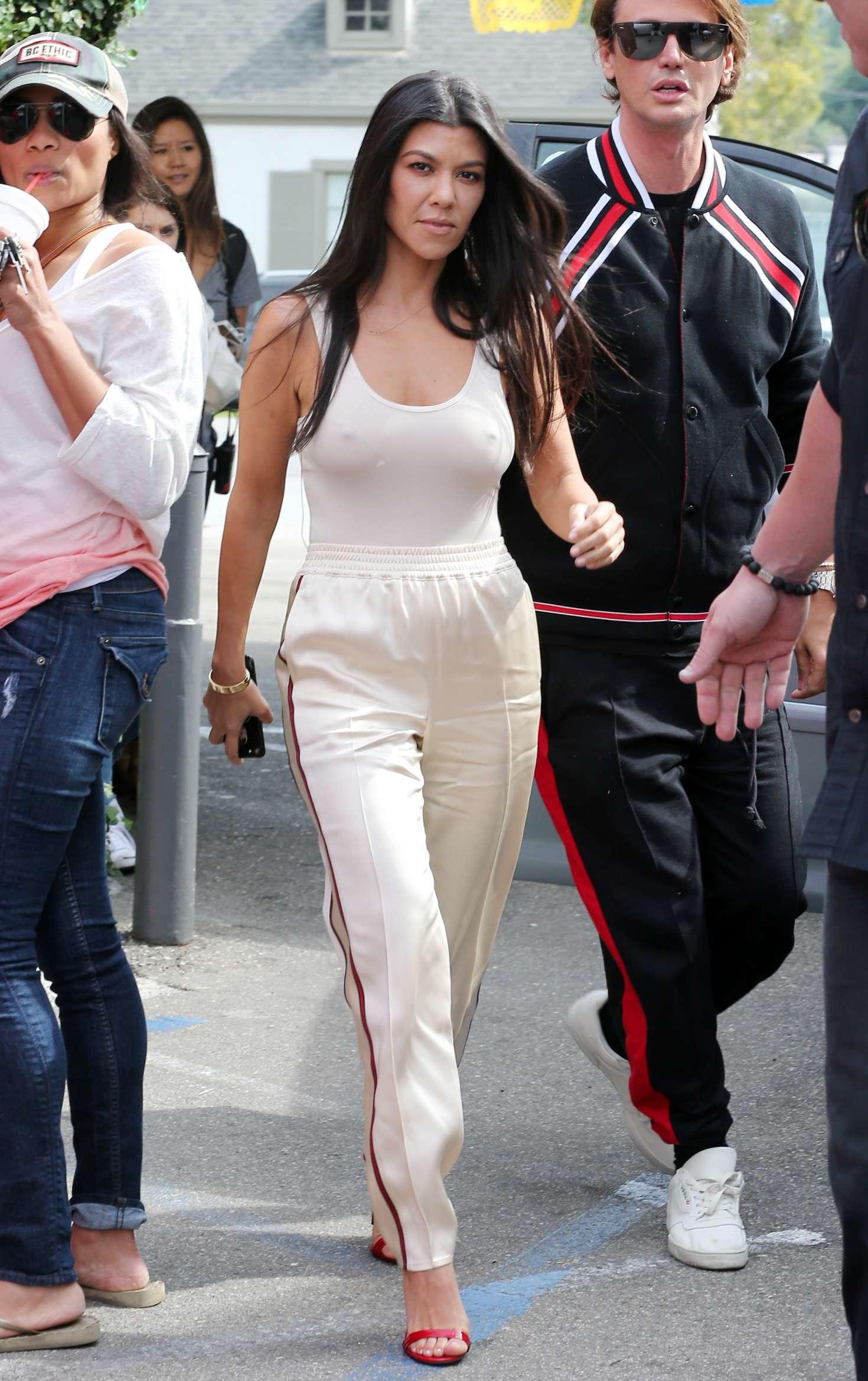 Kourtney Kardashian - Filming 'KUWTK' at Casa Vega in LA