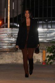 Kourtney Kardashian - Has dinner with a friend at Matsuhisa in Beverly Hills