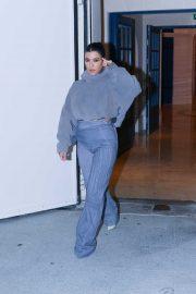 Kourtney Kardashian - Heads to the Yeezy Show in Paris