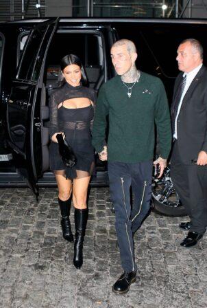 Kourtney Kardashian - heads to Zero Bond for dinner in New York