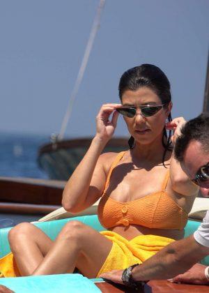 Kourtney Kardashian in Bikini in Capri