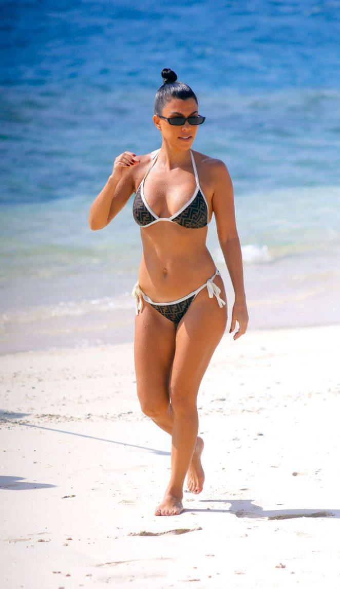 Kourtney Kardashian in Bikini on the beach in Bali