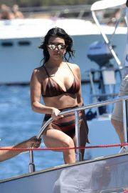 Kourtney Kardashian in Bikini on the yacht in Sardinia
