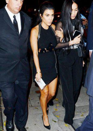 Kourtney Kardashian in Black Dress Out in Los Angeles