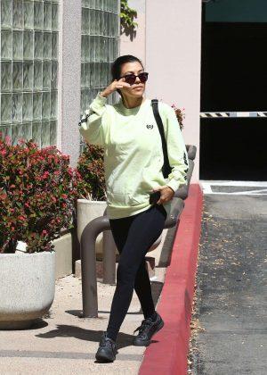 Kourtney Kardashian in Black Tights out in Calabasas