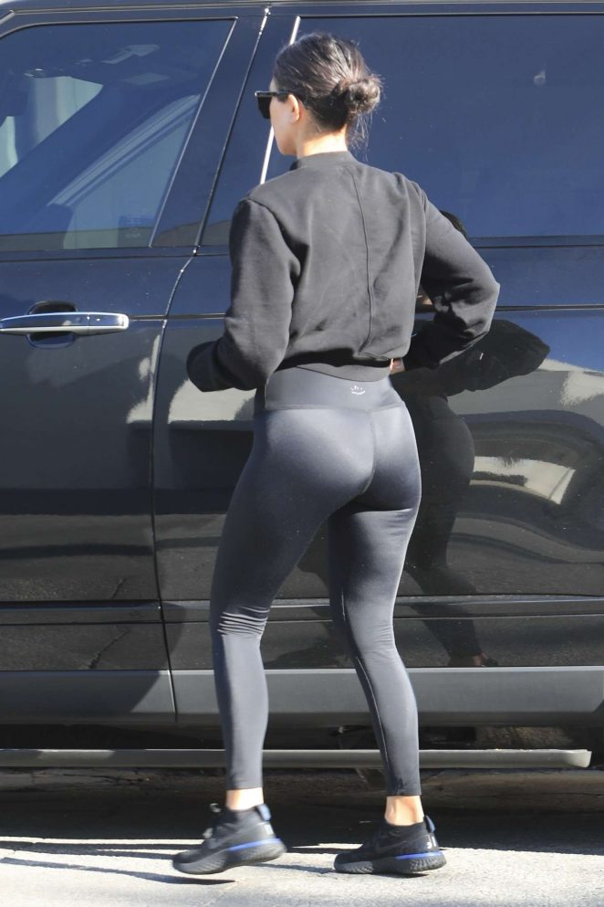 Kourtney Kardashian in Black Tights - Out in West Hollywood