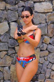Kourtney Kardashian in Colorful Bikini on Vacation in Costa Rica