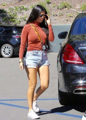 Kourtney Kardashian in Cut-offs out in Los Angeles
