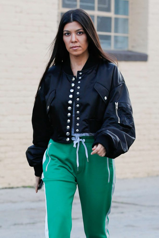 Kourtney Kardashian In Green Street Style 04 Gotceleb