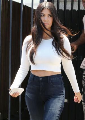 Kourtney Kardashian in Tight Jeans Out in LA