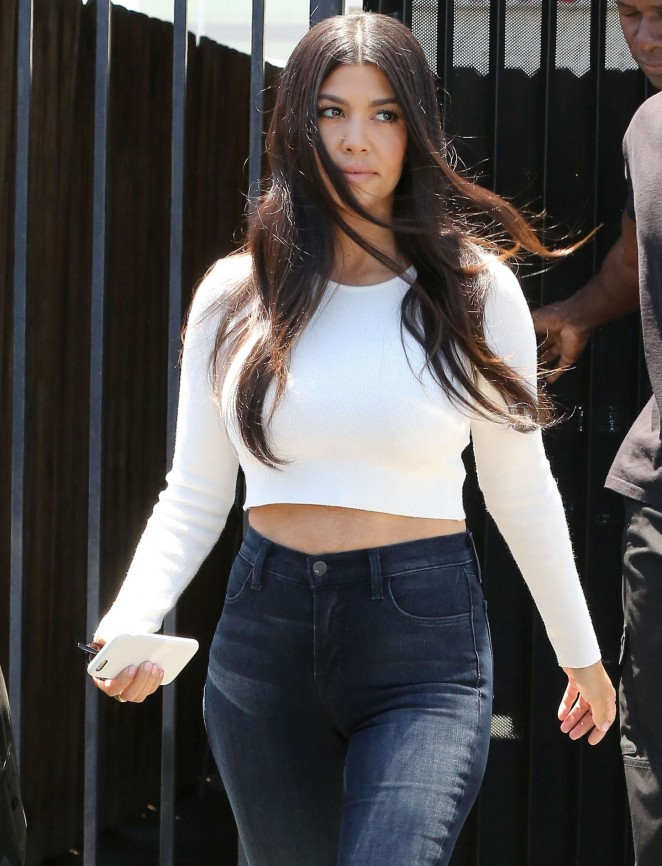 Kourtney Kardashian in Jeans Out and about in LA