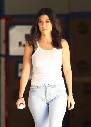 Kourtney Kardashian in Jeans out in Los Angeles