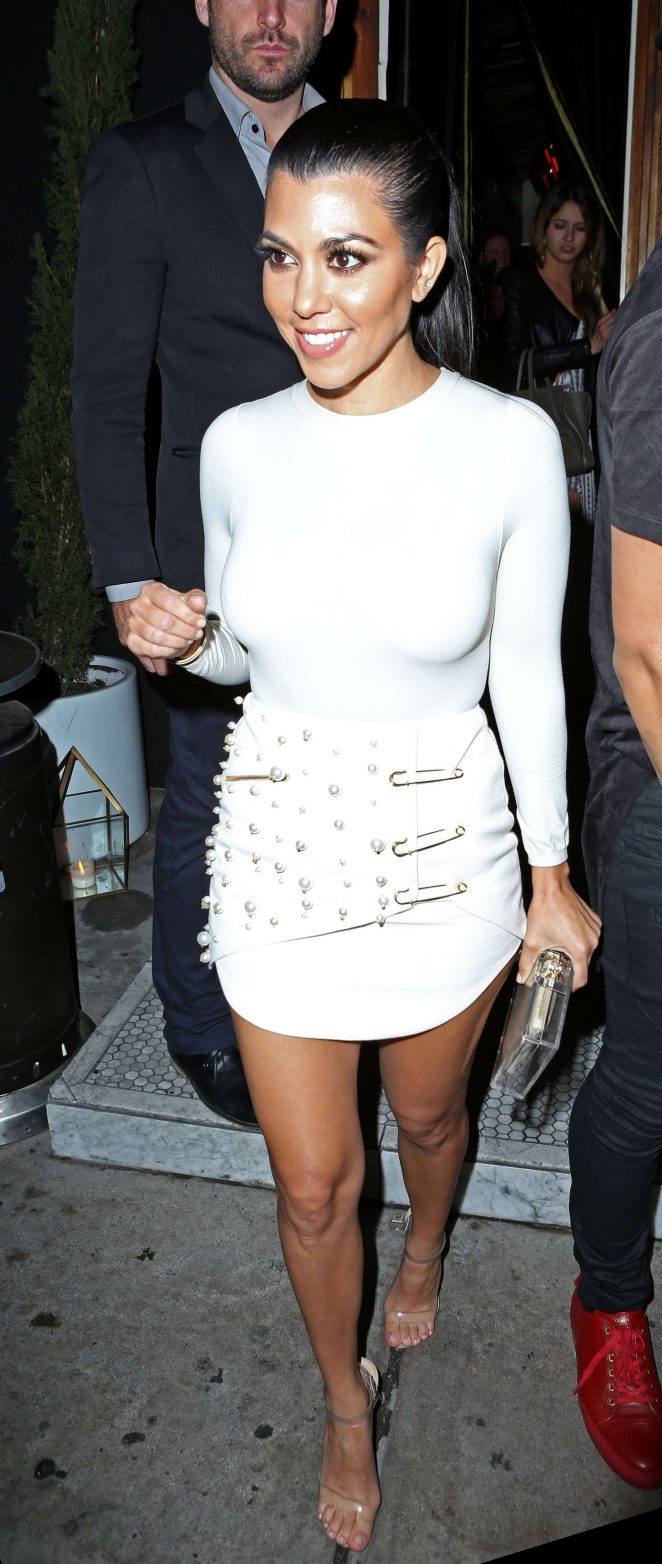 Kourtney Kardashian in Mini Dress at The Nice Guy -03