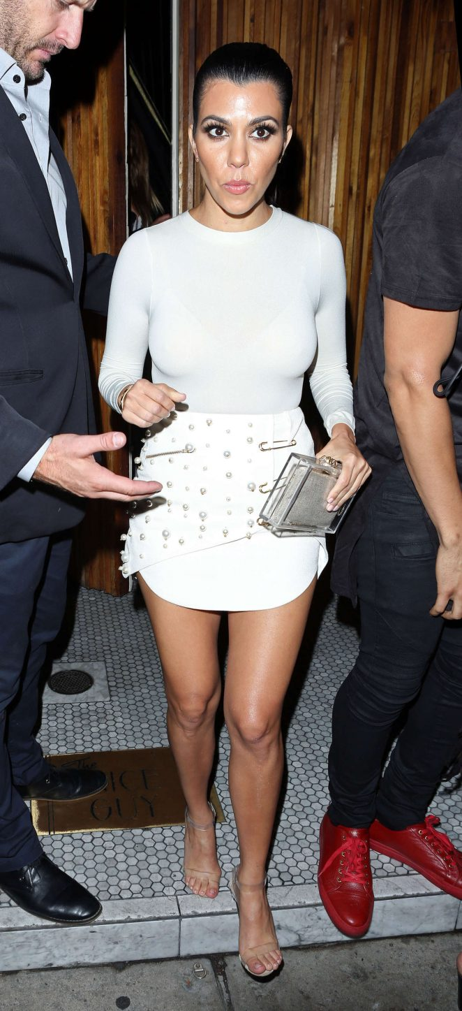 Kourtney Kardashian in Mini Dress at The Nice Guy -04